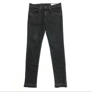 rag & bone Jeans - Rag And Bone Black Released Hem Dre Skinny Jeans